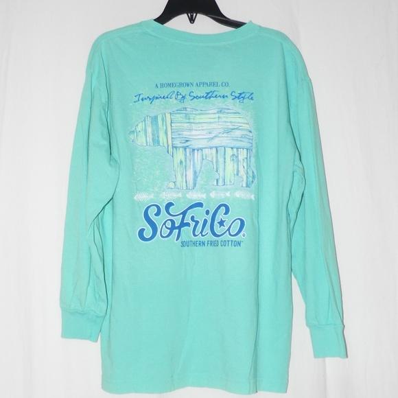 db0e8a70 Southern Fried Cotton Shirts & Tops | Bear Ls Tshirt Ym Yl Nwt ...